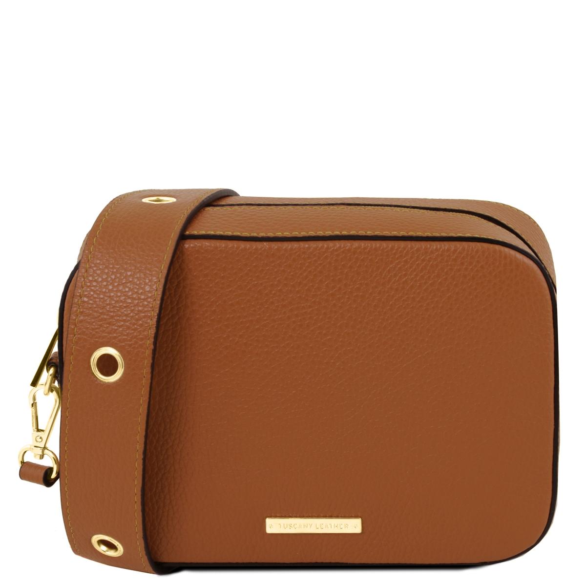 af23f5d5b9 TL1733 Hammered Leather Shoulder Bag - Taupe by Tuscany Leather ...