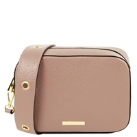 TL1733 Hammered Leather Shoulder Bag - Nude by Tuscany Leather