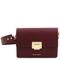 TL141742 Adele Leather Bag - Bordeaux | Tuscany Leather Handbag | Handbags Australia