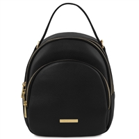 TL141743 Leather Backpack for Women - Black