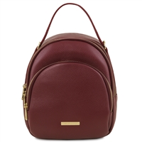 TL141743 Leather Backpack for Women - Bordeaux