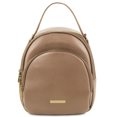 TL141743 Leather Backpack for Women - Taupe