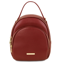 Red Leather Backpack for Women | Tuscany Leather Australia