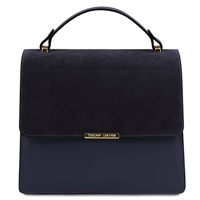 Irene Leather Handbag - Blue by Tuscany Leather | Handbags Australia