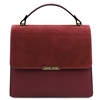 Irene Leather Handbag - Bordeaux by Tuscany Leather | Handbags Australia