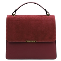 tl141745 Irene Leather Handbag - Bordeaux by Tuscany Leather | Handbags Australia