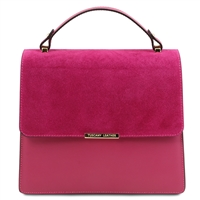 Irene Leather Handbag - Magenta by Tuscany Leather | Handbags Australia