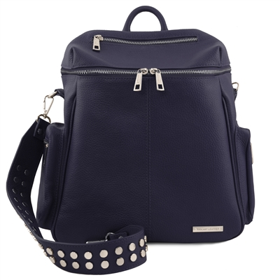 TL141747 Leather Backpack for Women - Dark Blue | Shop Australia