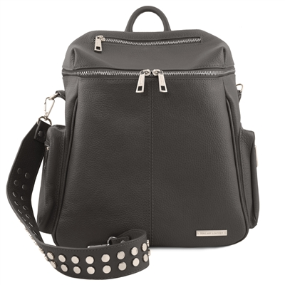 TL141747 Leather Backpack for Women - Grey | Shop Australia