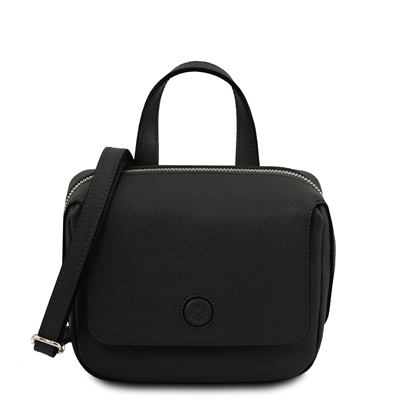 Dalia Black Mini Bag - Black by Tuscany Leather | Handbags Australia