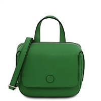 Dalia Black Mini Bag - Green by Tuscany Leather | Handbags Australia