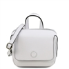 Dalia Black Mini Bag - White by Tuscany Leather | Handbags Australia
