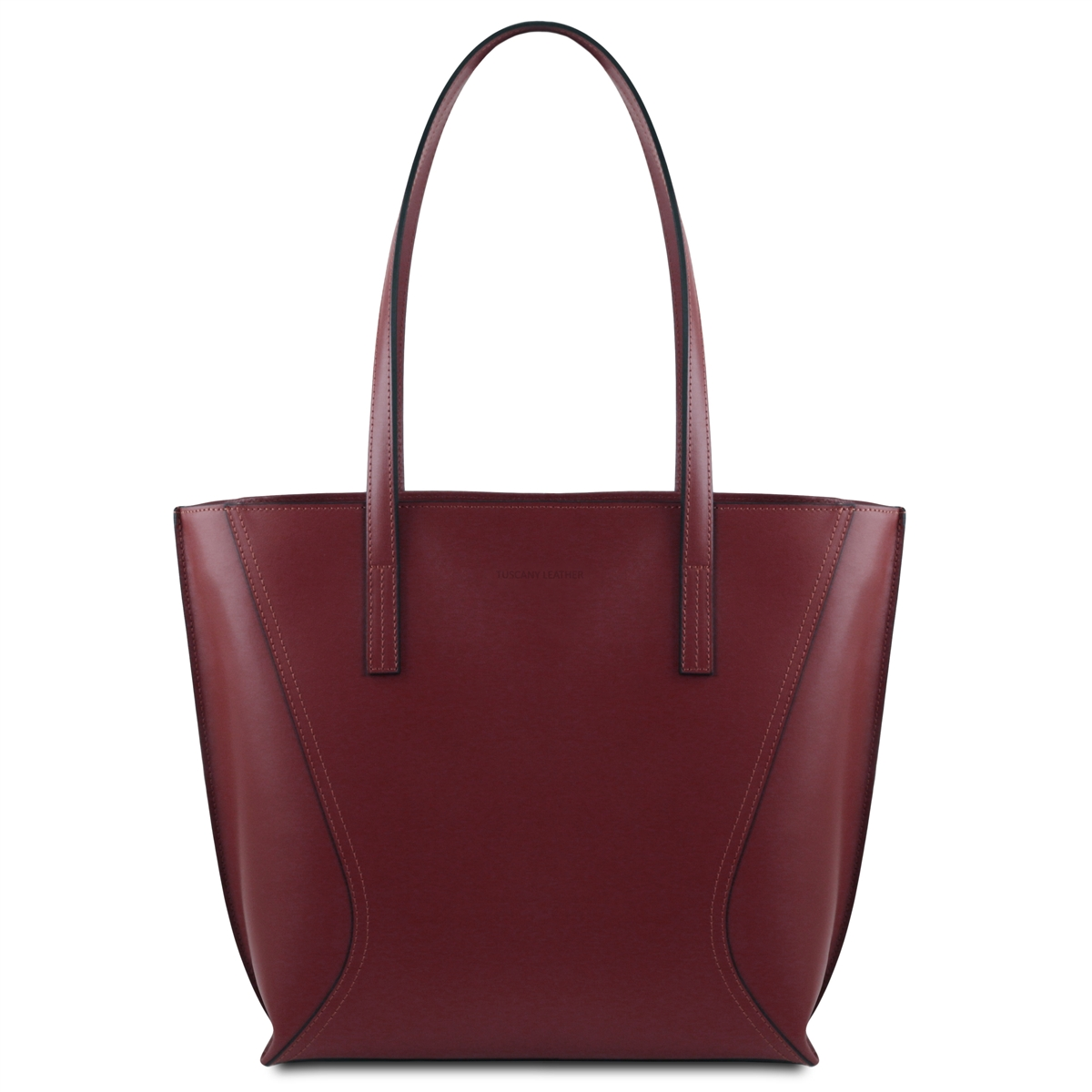 34c2ff870c3a Tuscany Leather TL14170 Nemesi Leather Shopping Bag - Bordeaux