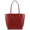 Tuscany Leather TL141790 Nemesi Leather Shopping Bag - Red