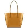 Tuscany Leather TL141790 Nemesi Leather Shopping Bag - Mustard