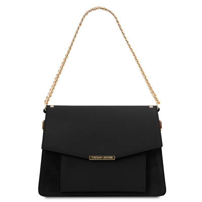 Andromeda Black Leather Handbag by Tuscany Leather | Handbags Australia