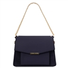 Andromeda Dark Blue Leather Handbag by Tuscany Leather | Handbags Australia
