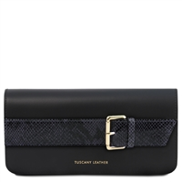 TL141814 Demetra Leather Clutch Bag - Blue | Clutch Bags | Australia | Shop