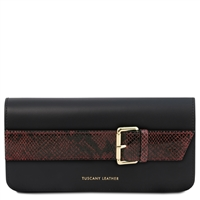 TL141814 Demetra Leather Clutch Bag - Black | Clutch Bags | Australia | Shop