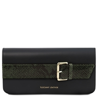 TL141814 Demetra Leather Clutch Bag - Green | Clutch Bags | Australia | Shop
