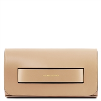 TL141816 Sophia Leather Clutch Bag - Champagne