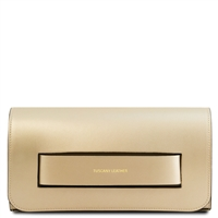 TL141816 Sophia Leather Clutch Bag - Gold | Women's | Bags | Australia