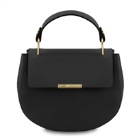 Luna Handbag - Black by Tuscany Leather | Handbags Australia