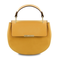 Luna Handbag - Mustard by Tuscany Leather | Handbags Australia