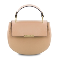 Luna Handbag - Champagne by Tuscany Leather | Handbags Australia