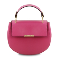Luna Handbag - Magenta by Tuscany Leather | Handbags Australia