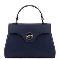 TL141824 Leather Duffel Bag - Dark Blue by Tuscany Leather