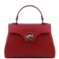 TL141824 Red Leather Duffel Bag | Tuscany Leather | Australia