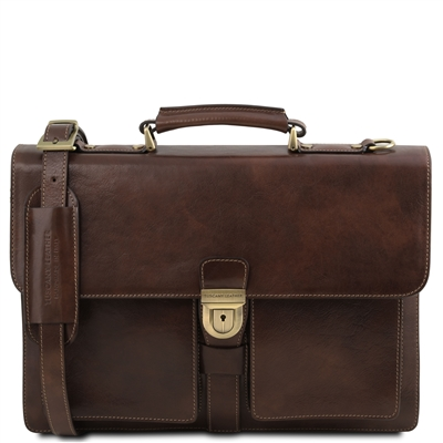 TL141825 Assisi Leather Briefcase | Men's | Tuscany Leather | Australia
