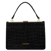 Iris Black Leather Handbag by Tuscany Leather Australia
