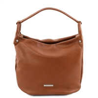 Tuscany Leather TL141855 Soft Leather Hobo Bag - Cognac | Leather Bags | Australia