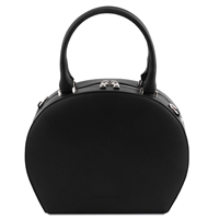 Ninfa Black Leather Handbag by Tuscany Leather | Handbags Australia