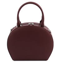 Ninfa Bordeaux Leather Handbag by Tuscany Leather | Handbags Australia