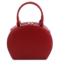 Ninfa Red Leather Handbag by Tuscany Leather | Handbags Australia