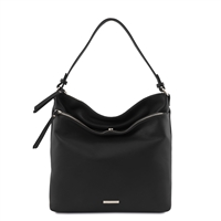 TL141874 Soft Leather Shoulder Bag - Black | Women's | Bags Australia