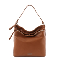 TL141874 Soft Leather Shoulder Bag - Cognac | Women's | Bags Australia