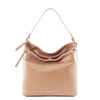 TL141874 Soft Leather Shoulder Bag - Champagne | Women's | Bags Australia