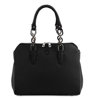 Lilia Handbag - Black by Tuscany Leather | Women's | Handbags Australia