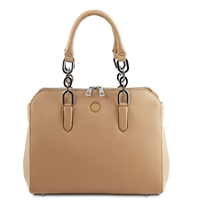 Lilia Handbag - Champagne by Tuscany Leather | Women's | Handbags Australia