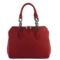 Lilia Handbag - Red by Tuscany Leather | Women's | Handbags Australia
