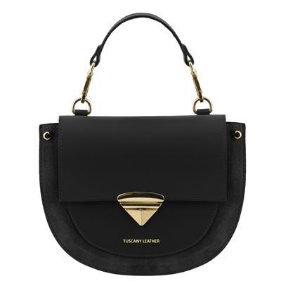 Talia Handbag - Black by Tuscany Leather | Handbags Australia