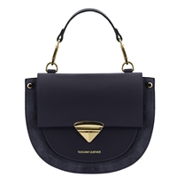 Talia Handbag - Dark Blue by Tuscany Leather | Handbags Australia