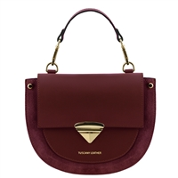 Talia Handbag - Bordeaux by Tuscany Leather | Handbags Australia