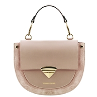 Talia Handbag - Taupe by Tuscany Leather | Handbags Australia