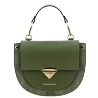 Talia Handbag - Green by Tuscany Leather | Handbags Australia