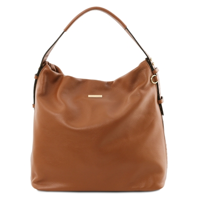 Soft Leather Hobo Bag - Cognac | Genuine Leather Bags | Australia